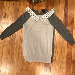 Cute Jcrew thin sweater with detachable collar